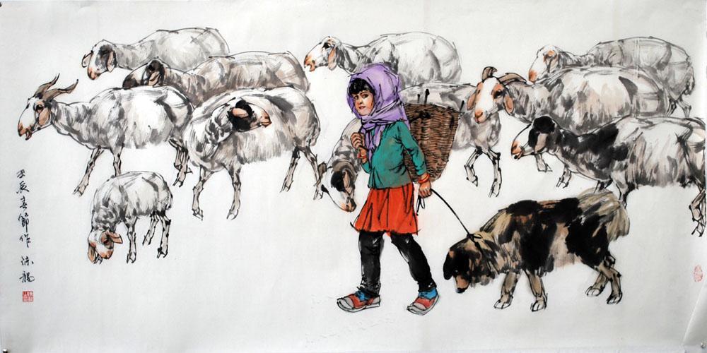 牧羊图之一